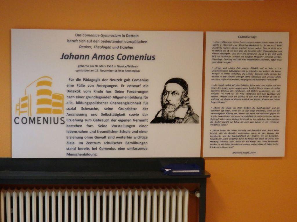 Comenius-Gymnasium Datteln - Comenius-Tafel